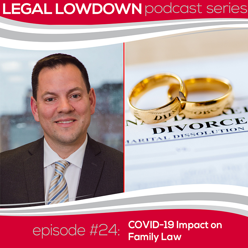 Legal Lowdown Podcast – Episode #24 – COVID-19 Impact on Family Law
